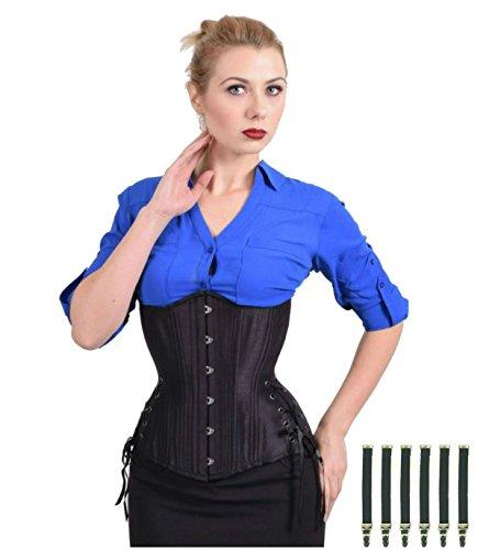 bundle-2-items-black-iris-long-hourglass-black-satin-corset-garter-set