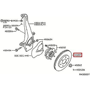 Amazon Com Infiniti 40206 Zc60a Disc Brake Rotor Automotive