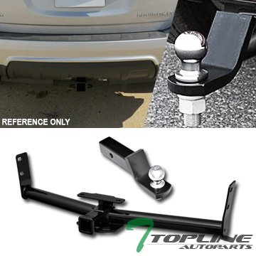 "Topline Autopart Class 3 III Trailer Towing Hitch Mount Receiver Rear Bumper Utility w/ 2"" Loaded Ball Tow Kit For 05-16 Chevy Equinox / 10-16 GMC Terrain 06-09 Pontiac Torrent 02-07 Saturn Vue"