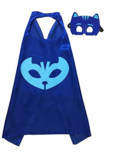 Owone Box PJ Mask Costume Kids Birthday Party Favor 27.5 inches, Blue, 27.5 inches