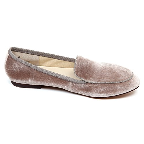 Smith Woman Taupe Loafer Tortora Velvet Windsor Donna Mocassino Box without D5314 zydqU