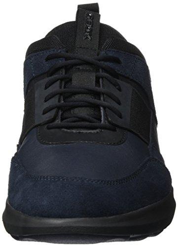 Geox Ginnastica Scarpe U Blu Basse Traccia B Navy Black da Uomo qpCAqr