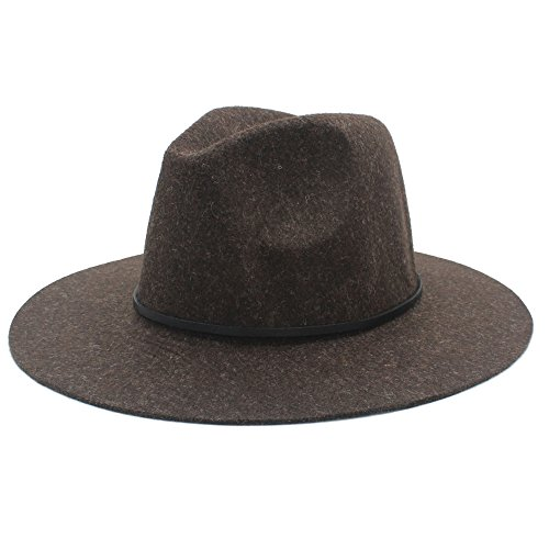 L.Z.H Cap Wide Brim Winter Autumn Fedora Hat for Elegant Womem Men Top Cloche Wide-Brimmed Gardening Hat (Color : 3, Size : 56-59cm)