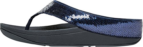 FitFlop Ringer Toe Post - Urban White/Beige Sole Azul Marino (Supernavy)