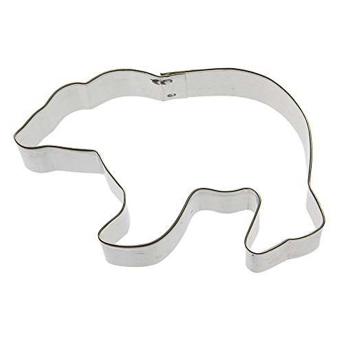 Polar Bear Cookie Cutter<br>Tin Plated Steel<br>4 Inches