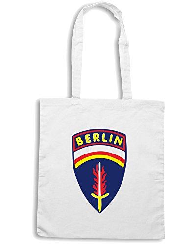 T-Shirtshock - Bolsa para la compra OLDENG00022 berlin brigade stuff Blanco