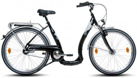 Sajón Anillo Bike Manufaktur Mujer City Bicicleta 26 Pulgadas con ...