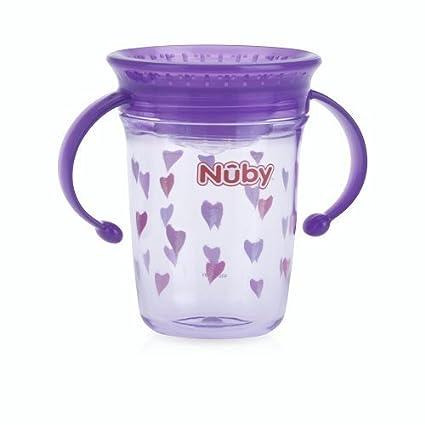 Thirsty Kids - Mini taza sin derrames 360° de Nuby 4 – 12 m sin