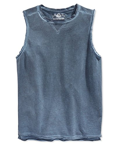 American Rag Mens Sleeveless Solid Tank Top Navy (American Rag Sleeveless)