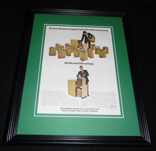 1974 Sears Kenmore Compactor 11x14 Framed ORIGINAL for sale  Delivered anywhere in USA