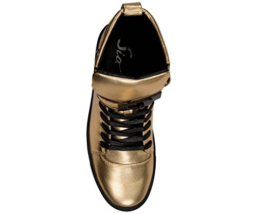 Top Mens Grain Slide with Buckle up Gold Lace Strap Sio Metallic Black Designer Pebble High Sneaker and Upper EdOwPzq