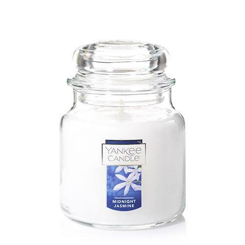 - Yankee Candle Midnight Jasmine Medium Jar Candle, Floral Scent
