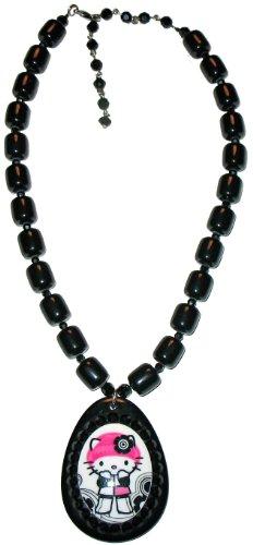 Tarina Tarantino Black Necklace (Tarina Tarantino Pink Head Mod Egg Pendant (Black))