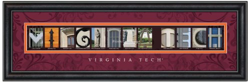 Big Bold Border (Prints Charming Letter Art Framed Print, Virginia Tech-Virginia Tech, Bold Color Border)