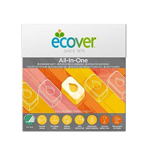Pastillas Lavavajillas todo en uno Ecover 25 unidades: Amazon.es ...