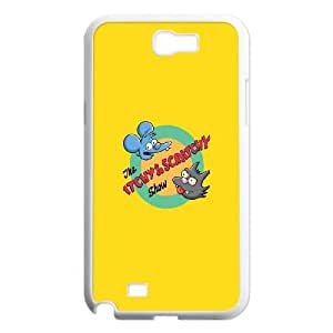 Samsung Galaxy N2 7100 Cell Phone Case White_Itchy And Scratchy TR2408366