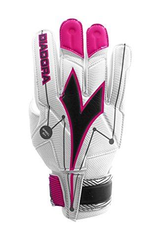 視線略奪変換(10, White / Pink) - Diadora Babel Soccer Goalkeeper Glove