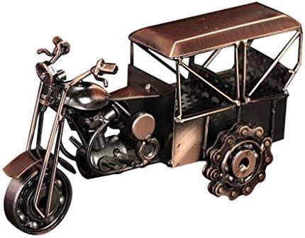 レトロな三輪車モデル創造的な室内装飾ホーム手作り装飾工芸中国風、誕生日プレゼント (Color : Brass, Size : 24*9*11cm)