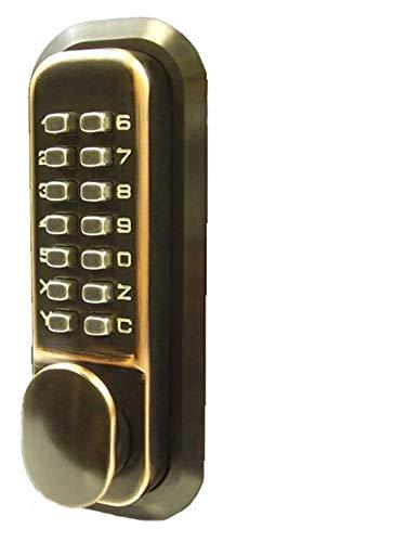 All-Weather Double Keypad Mechanical Keyless Door Lock (Oil Rubbed Bronze) ()