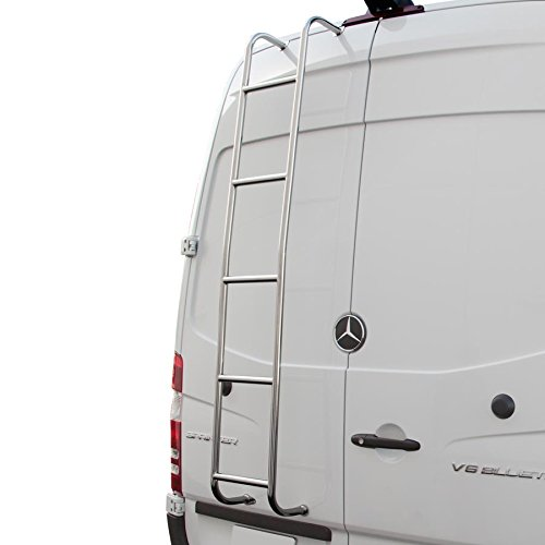 (Stainless Steel Rear Door Van Ladder 2007-2018 Sprinter Van High Roof Model Vans)