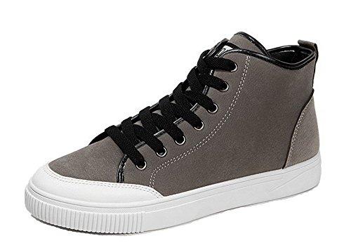 Chaussures Ageemi Hommes Adultes Bout Rond Baskets Haut Classique Bas De Sport Gris