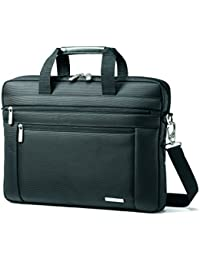 Classic Laptop Slim Briefcase Bag, Black, 16 x 2 x 12-Inch