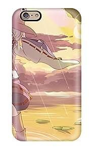 High-quality Durability Case For Iphone 6(touhou Animal Boots Clouds Frog Hat Leaves Moon Moriya Suwako Rain Risutaru Sky Sunset Touhou )