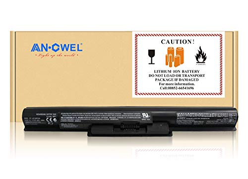 (Angwel 14.8V 2700mAh VGP-BPS35A Laptop Battery for Sony VAIO 14E Series 15E Series SVF1521A2E SVF15217SC SVF15216SC SVF152A27T Series - 1 Year Warranty)
