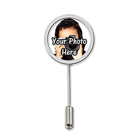 Your Personalised Photo Stick Pin Tie Pin With Protector Gift