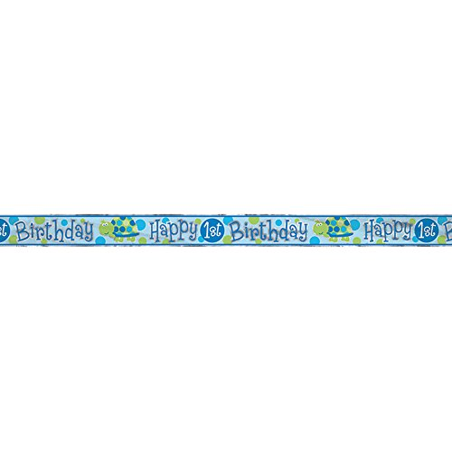 12ft Foil Turtle 1st Birthday Banner