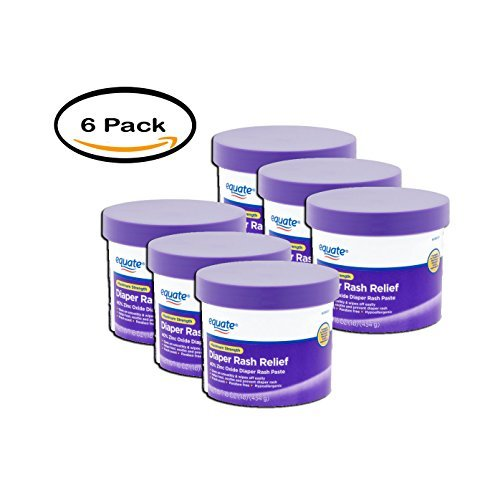 PACK OF 6 - Equate Maximum Strength Diaper Rash Relief, 16 oz
