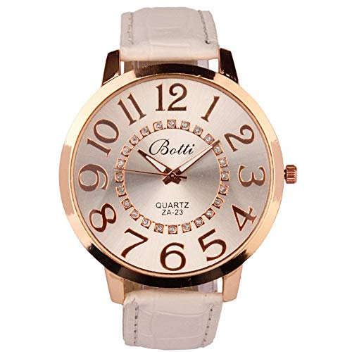 Gysad Womens Watches Sale Clearance Waterproof Analogue Quartz Watch Leather Strap for Women Fashionable Wrist Watch