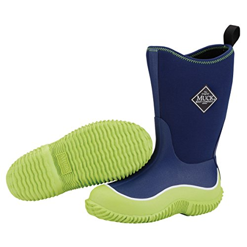 Muck Boots Hale Multi-Season Kids' Rubber Boot,Green/Navy,2 M US Little Kid -
