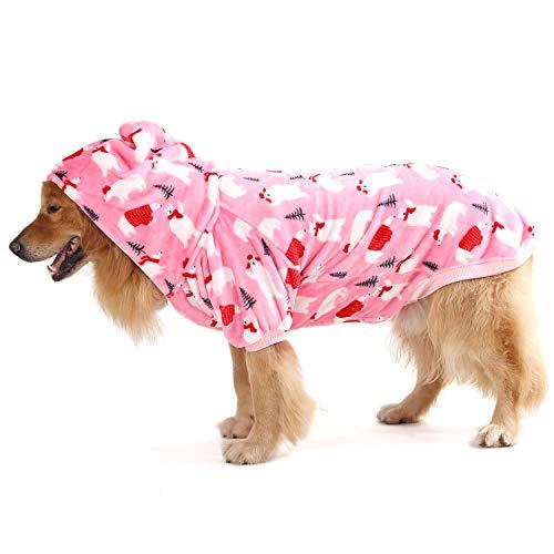 Dog Human Matching Christmas Pajamas, Printed Onesie Hoodie Halloween Costumes for Dogs Cats Medium