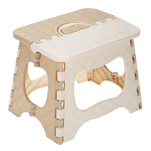 Festnight Folding Step Stool Portable Chair Small Bench Multipurpose Camping Heavy Duty Non Slip Kids and Adults Light Weight Folds Flat