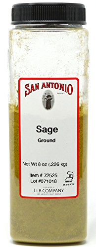 Premium Ground Sage Leaf Herb Powder 8-Ounce Bulk Size Seasoning Spice