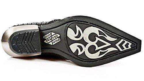 M Leder New Hacke Metallisch S2 Stehlen Schwarz Rock 7934 Schwarz Motorradfahrer qAa0C