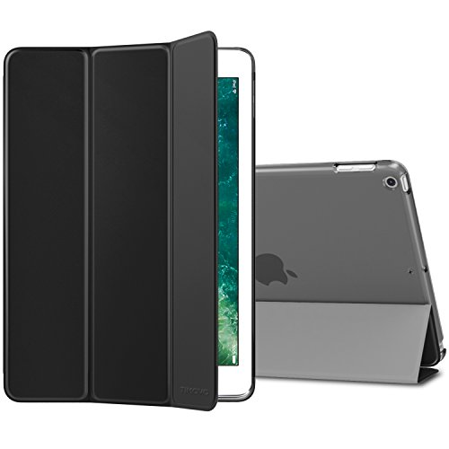 iPad 2017 iPad 9.7 Inch Case, TiMOVO Smart Case [Light Weight] Slim Translucent Frosted Back Protector, with Auto Wake/Sleep Function, Magnetic Cover for Apple iPad 9.7-inch 2017 Release, Black