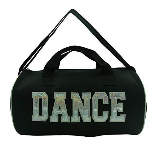 (Girl's Nylon Dance Duffle Bag (Silver))