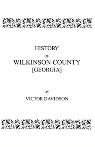 Book History of Wilkinson County [Georgia]