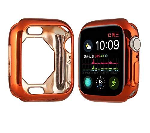 BabiQ Ultra-Slim Plating TPU Protective Case Cover for Apple Watch Series 4 44MM (Orange) (Iphone 4 Orange Screen)