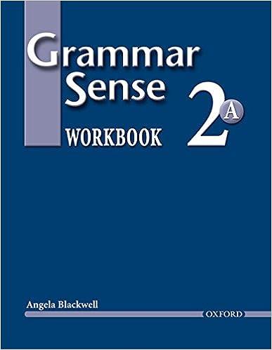 Book Grammar Sense 2: Workbook 2 Volume A: Workbook Level 2