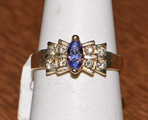 14k Yellow Gold Tanzanite Diamond Ring ()