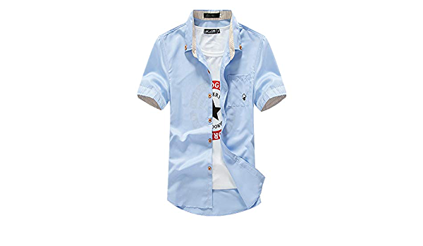 NOBRAND - Camisa de manga corta para hombre en primavera y ...