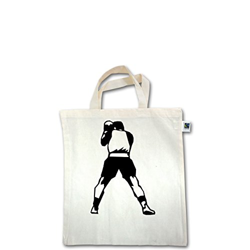 Kampfsport - Boxen - Unisize - Natural - XT500 - Fairtrade Henkeltasche / Jutebeutel mit kurzen Henkeln aus Bio-Baumwolle