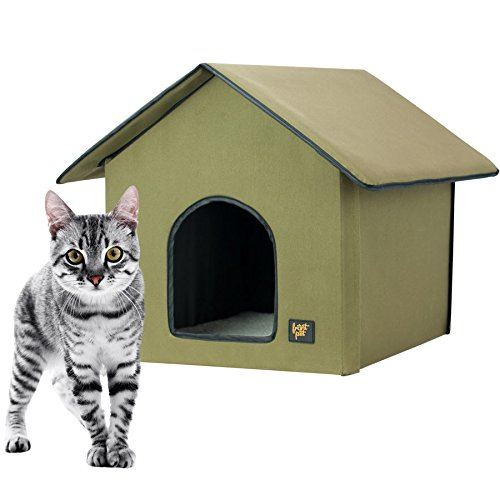 FrontPet 20 Watt Heated Cat House For Indoor U0026 Outdoor Cats  Keep Dry / Cat  House / Heated Cat House. Perfect Cat House For Keeping Newborn Kittens  Warm!