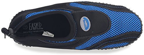 Enimay Mens Outdoor Stretch Nylon Mesh Rubber Sole Adjustable Sport Water Shoe Black | Royal Blue JFv42oexp