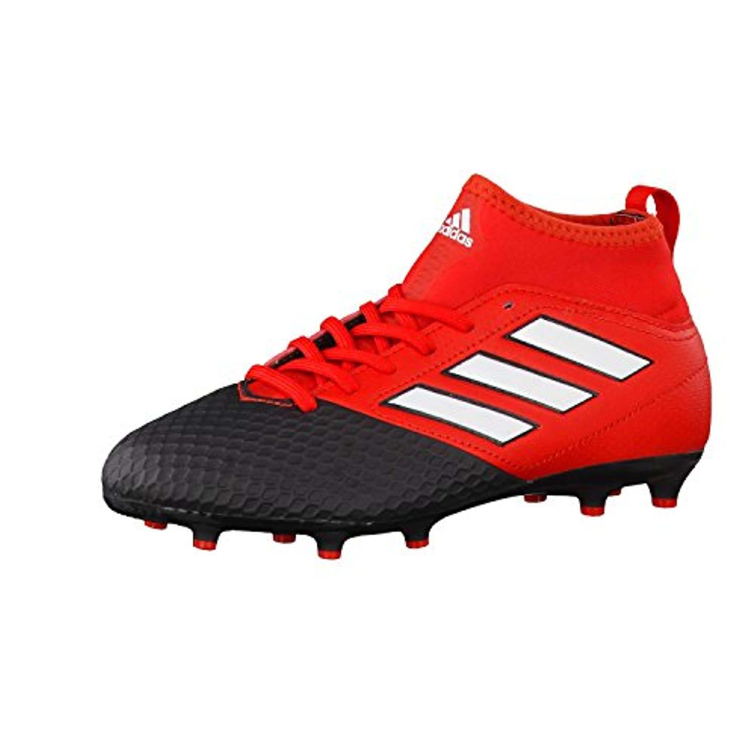 adidas Unisex Kids' Ace 17.3 Fg J Football Competition Shoes red Size: 1 UK