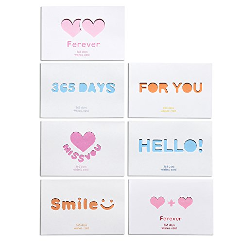 Love Cards, Love Greeting Cards Envelopes For Every Occasion, Holiday Personalized Blank Love Greeting Cards Set of 14 PCS/Set