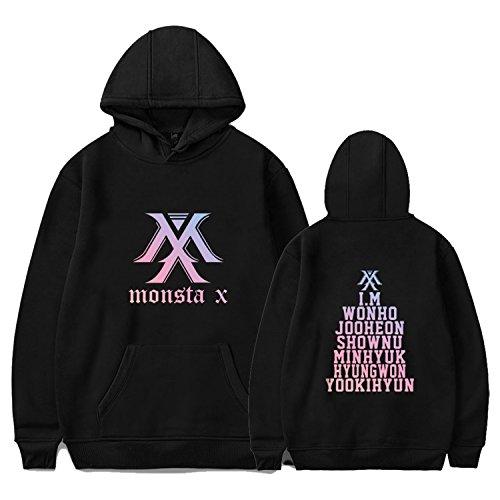 Qaedtls Kpop Monsta X Hoodie Sweater IM Kihyun Shownu Jooheon Sweatshirt Pullover